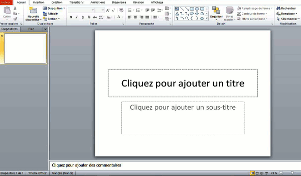 acceuil power point